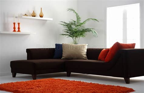 dark brown fabric modern sectional sofa wwooden legs
