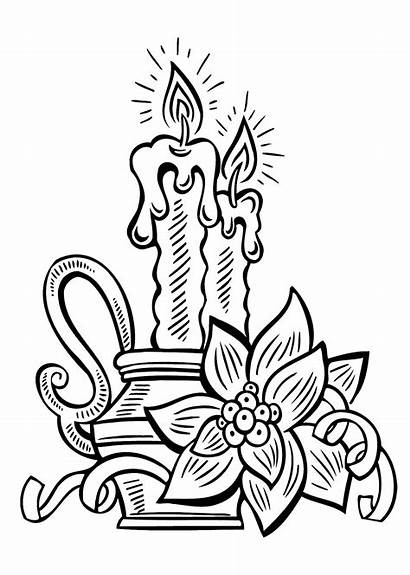 Coloring Candle Printable Drawing Disegni Colorare Colouring