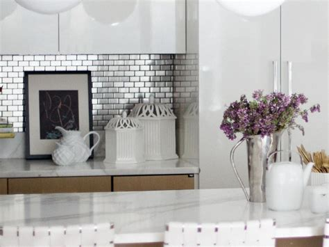 metal kitchen backsplash tiles stainless steel backsplash tiles pictures ideas from hgtv hgtv