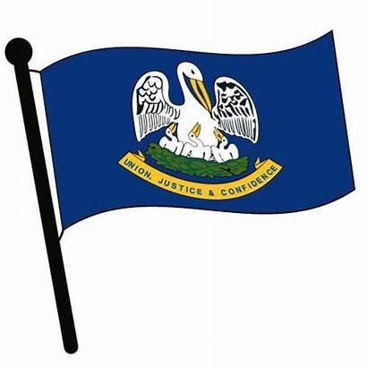 Louisiana Clipart Flag Clip Waving