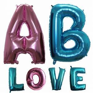 large 40 inch light bluepink letter foil balloons With light pink letter balloons