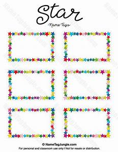 free printable star name tags the template can also be With name templates for preschool