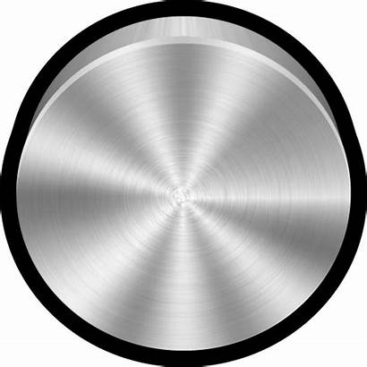 Metal Blank Icon Brushed Icons Apple Button
