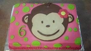monkey birthday cake template - mod monkey girl 39 s 6th birthday cake