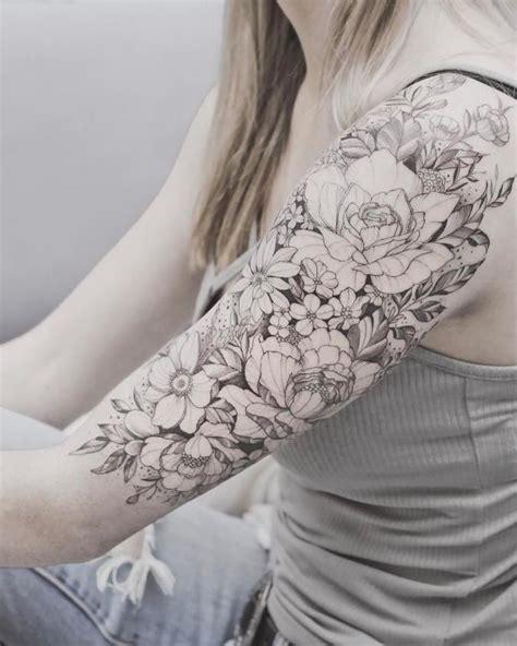 girl sleeve tattoos ideas  pinterest rose