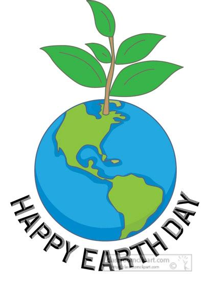 earth day clipart clipart happy earth day plant growing