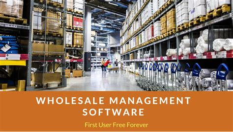 wholesale software wholesale distribution software