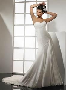 strapless sweetheart beach wedding dresses sexy With strapless chiffon wedding dress