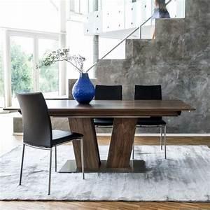 Pied De Table Bois : table en bois moderne extensible avec pied central sm39 ~ Melissatoandfro.com Idées de Décoration