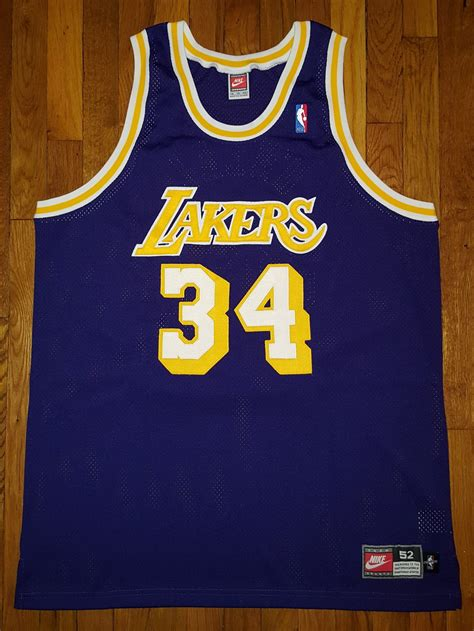 Authentic 98 Nike Los Angeles Lakers Shaquille O'Neal Shaq ...