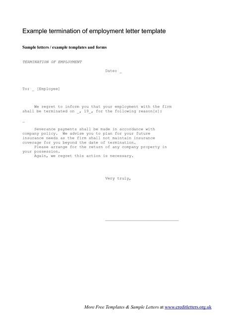 employee termination letter  employee termination