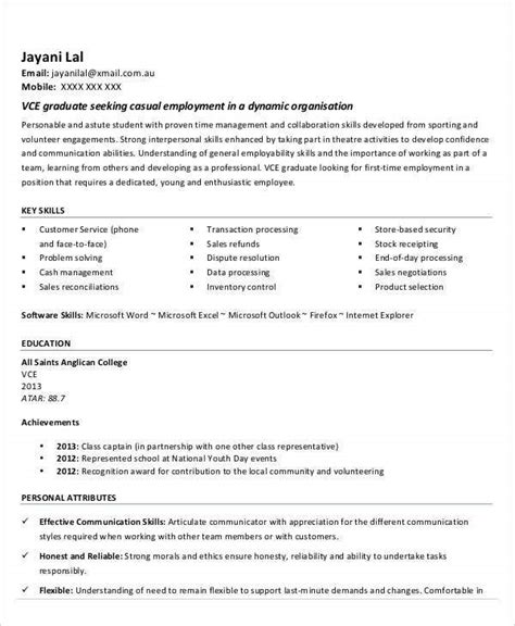 1 page cv for a part time job if you have little experience, example when applying for your first part time job at university, you may find a good 1 page cv is more effective. 14+ First Resume Templates - PDF, DOC | Free & Premium Templates