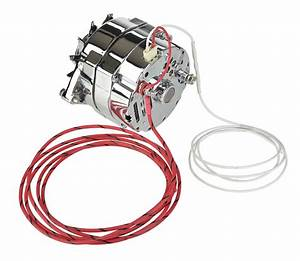 Alternator 100 Amp Chrome 1 Or 3 Wire Charge Light Plug