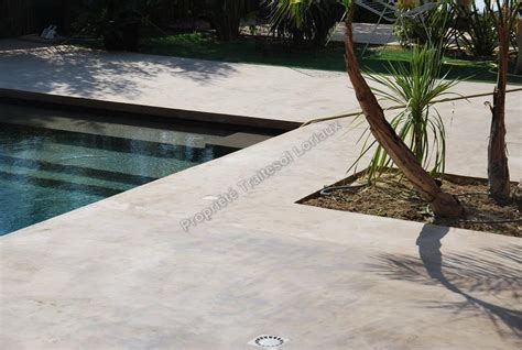 beton cire sur mur exterieur palzon