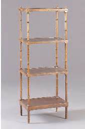 Faux Bamboo Etagere by A Style Faux Bamboo Etagere 20th Century