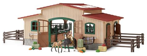 Schleich Horse Stable With Accessories, Figures
