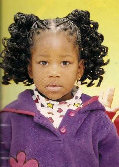 curly ponytails hairstyle african american little girls