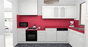 Cuisine Repeinte En Blanc : cuisine rouge et blanche 13 id es et conseils pour l 39 agencer ~ Melissatoandfro.com Idées de Décoration