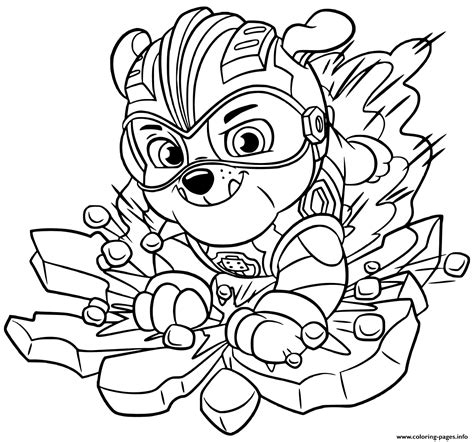 Paw patrol mighty pups save adventure bay available on 6th november. Paw Patrol Mighty Pups Tracker Coloring Pages   Coloring Page Blog
