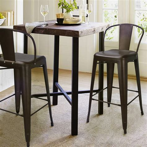 adeco bronze metal bar stools with back set of 2 ch0158 2