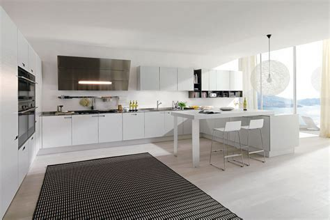 contemporary white kitchen cabinets   home