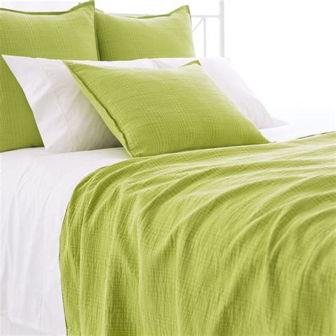 Green Coverlets by Pine Cone Hill Green Matelasse Coverlet