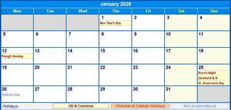 january uk calendar holidays printing image format