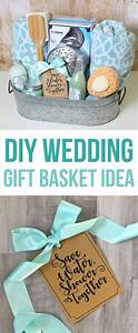 this diy wedding gift basket idea has a shower theme and With diy wedding gift basket