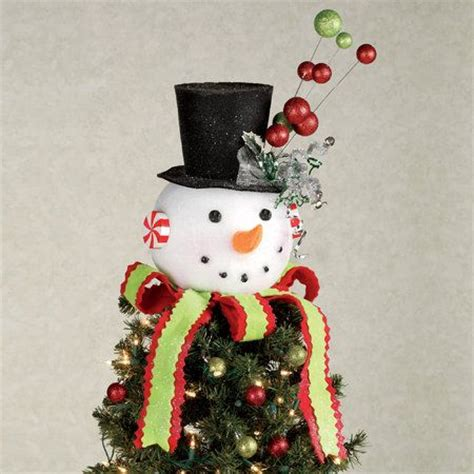 cracker barrel snowman tree topper snowman tree topper or table accent