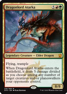 Standard Deck Mtg Dragons Of Tarkir by Here Be Dragons Decks Magic The Gathering