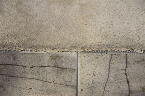 Tile Kitchen Floors Ideas - flooring how do i make where my carpet meets tile look nice home improvement stack exchange