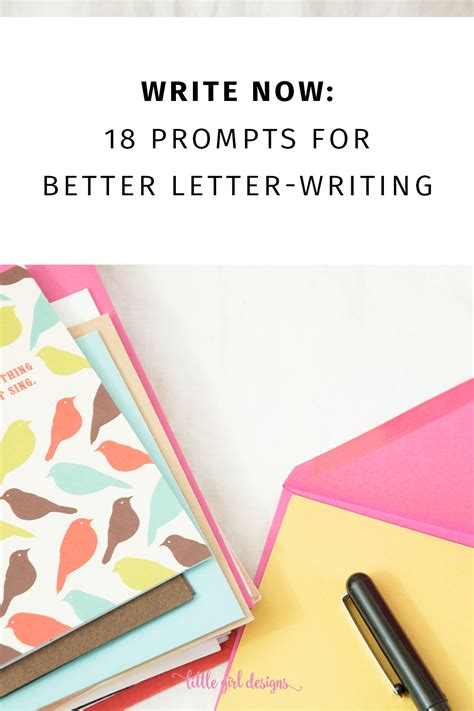 write   letter writing prompts  girl designs