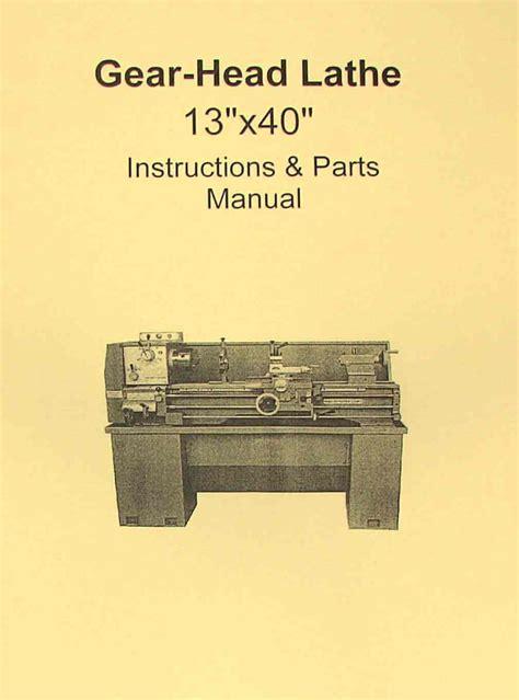 metal lathe  instruction parts manual jet ghb