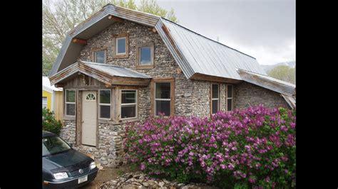 slipform stone masonry building  slipform stone house