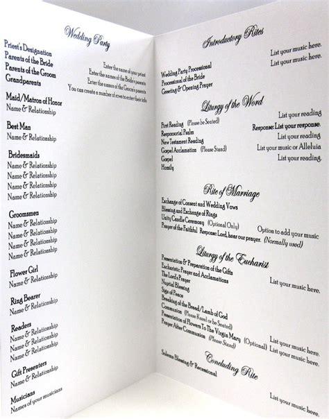 catholic wedding program template peerpex