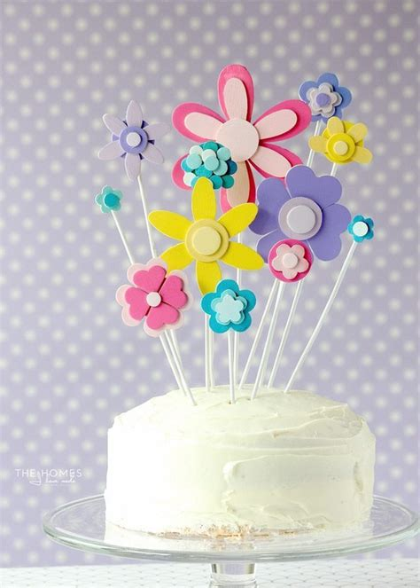diy flower cake topper for any spring soir 233 e thirty