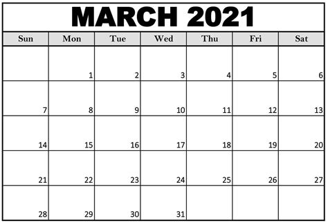 March 2021 Printable Calendar Cute with Notes - Web Galaxy ...