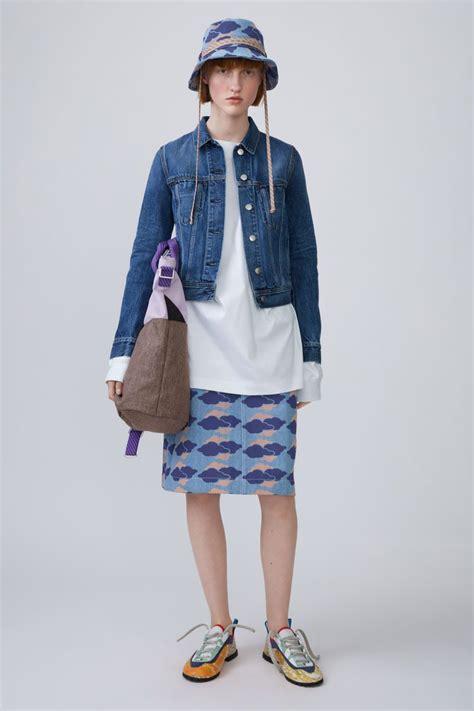 Acne Studios Cliff Mid Blue Is A 5 Pocket Denim Jacket