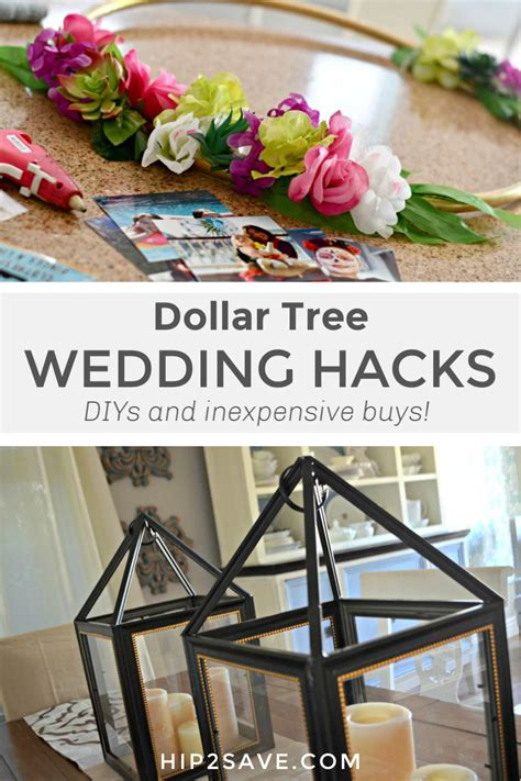 With our Dollar Tree wedding hacks you can pull off a