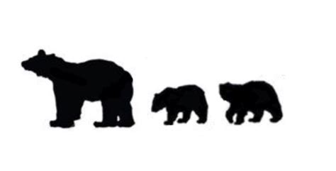Bear And Cub Silhouette At Getdrawings.com