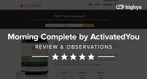 morning complete  activatedyou reviews    scam
