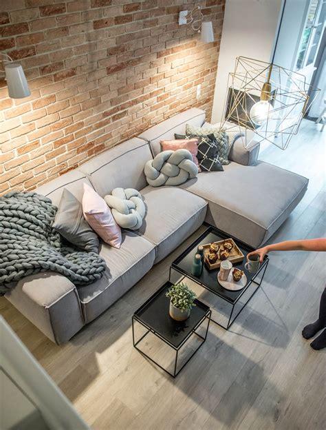 Decor with Grey Sofa Living Room