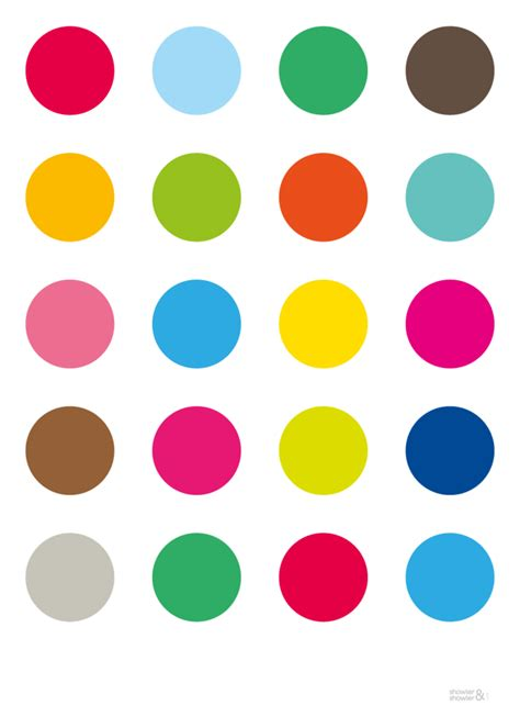 color dots dotty print showler 163 12 99 posters illustrations
