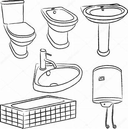 Bathroom Objects Vector Illustration Depositphotos Olivera Sketches
