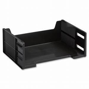 rubbermaid stackable side loading letter tray ld products With stackable letter trays side loading