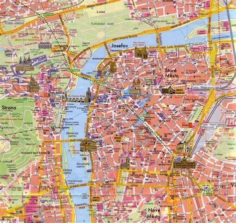 tourism prague map