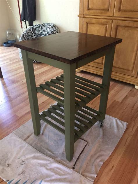 ikea kitchen cart makeover ikea kitchen cart makeover sloan chalk paint and 4508