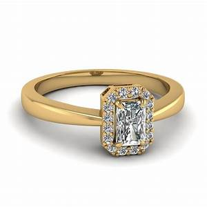 18k yellow gold radiant cut halo engagement rings With radiant cut diamond wedding rings