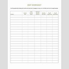 38 Debt Snowball Spreadsheets, Forms & Calculators