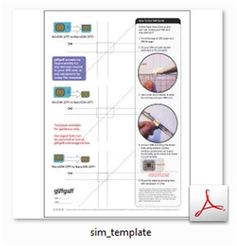 resize  phone sim card  printable cutting guide